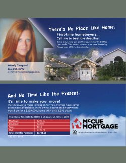 McCue No Place Like Home Ad